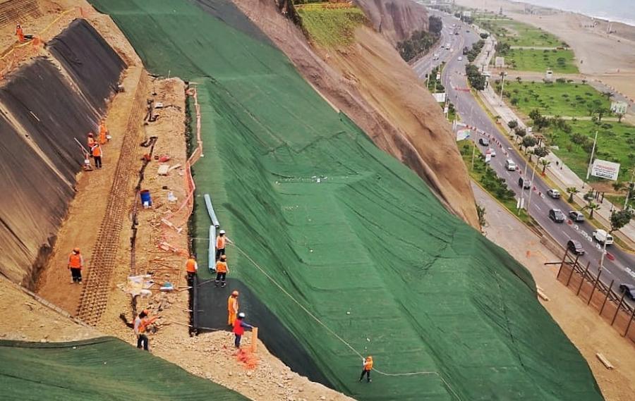 MML: Trabajos en malecón Castagnola de la Costa Verde presentan un avance del 84 %